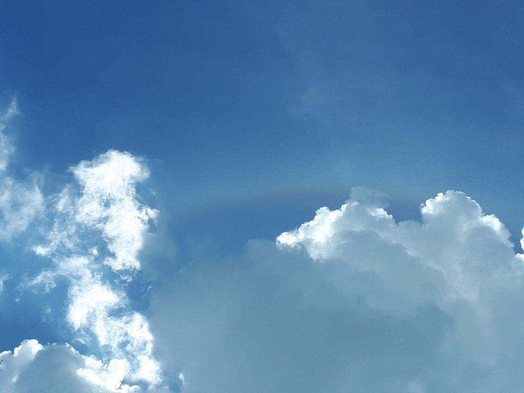 Blue sky white clouds
